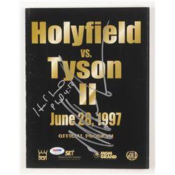 Mike Tyson  Evander Holyfield Signed 1997 Official Program (PSA COA)