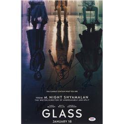 """Glass"" 12x18 Photo Cast-Signed by (4) with M. Night Shyamalan, Samuel L. Jackson, Sarah Paulson  An"