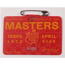 1972 Masters Tournament Golf Badge