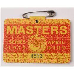 1975 Masters Tournament Golf Badge