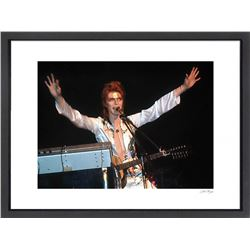 """David Bowie"" 16x20 Custom Framed Globe Hollywood Photo"