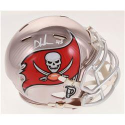 Devin White Signed Tampa Bay Buccaneers Chrome Speed Mini Helmet (Beckett COA)