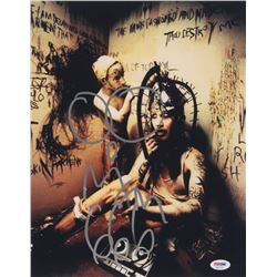 """Marilyn Manson Signed 11x14 Photo Inscribed """"666"""" with Hand-Drawn Sketch (PSA Hologram)"""