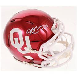 Kyler Murray Signed Oklahoma Sooners Chrome Speed Mini Helmet (Becket COA)