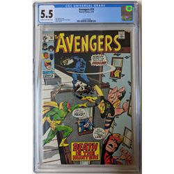 """1970 """"The Avengers"""" Issue #74 Marvel Comic Book (CGC 5.5)"""