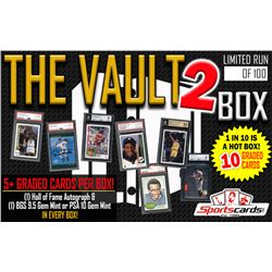 """""""THE VAULT 2"""" All Graded/Encapsulated Mystery Box! 5+ GRADED CARDS PER BOX!"""
