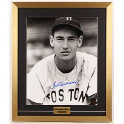 Ted Williams Signed Boston Red Sox 21x25 Custom Framed Photo Display (Williams COA)
