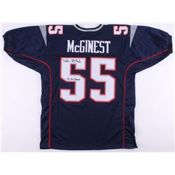 """Willie McGinest Signed Jersey Inscribed """"3x SB Champs"""" (JSA COA)"""