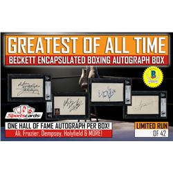 """""""GREATEST OF ALL TIME"""" – Beckett Encapsulated BOXING Autograph Mystery Box"""