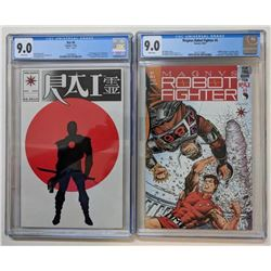 """Lot of (2) CGC Graded Valiant Comic Books with 1991 Magnus, Robot Fighter Issue #5 (CGC 9.0)  1992 """""""