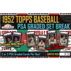 1952 Topps Baseball PSA Graded Set Break Mystery Box! 2 or 3 PSA Graded Cards Per Box