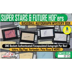 """SUPER STARS  FUTURE HOF'ERS"" – BASEBALL AUTOGRAPH MYSTERY BOX"