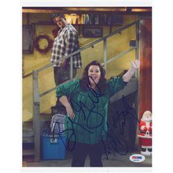 "Billy Gardell  Melissa McCarthy Signed ""Mike  Molly"" 8x10 Photo (PSA COA)"