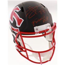 """Travis Kelce Signed Kansas City Chiefs AMP Full-Size Speed Helmet Inscribed """"Fantasy MVP"""" (Beckett C"""