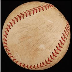 """Roberto Clemente Signed ONL Baseball Inscribed """"Best Wishes"""" (PSA LOA)"""