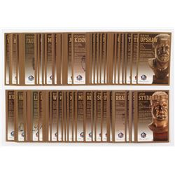 Lot of (115) LE Bronze Bust Football Hall of Fame Postcards with (21) Signed with Bob Lilly, Chris H