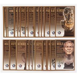 Lot of (29) LE Bronze Bust Football Hall of Fame Postcards with (12) Signed with Art Shell, Walter J