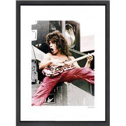 """Eddie Van Halen"" 16x20 Custom Framed Globe Hollywood Photo"