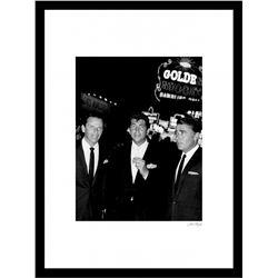 "Frank Sinatra  Dean Martin ""Rat Pack"" 24x30 Custom Framed Globe Hollywood Photo"
