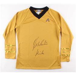"""William Shatner Signed """"Star Trek"""" Uniform Shirt Inscribed """"Kirk"""" (Beckett COA)"""