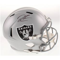 Derek Carr Signed Oakland Raiders Full-Size Speed Helmet (Beckett COA)