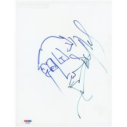 Stefan Lessard Signed 8x10 Photo Paper with Hand-Drawn Sketch (PSA Hologram)