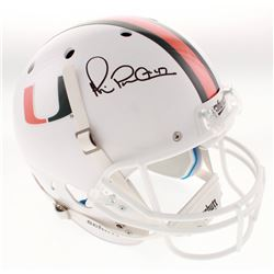 """Michael """"Playmaker"""" Irvin Signed Miami Hurricanes Full-Size Helmet (Beckett COA)"""
