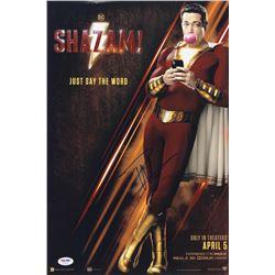 """Zachary Levi Signed """"Shazam! """" 12x18 Photo (PSA COA)"""