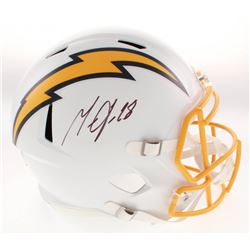 Melvin Gordon Signed Los Angeles Chargers Color Rush Full-Size Speed Helmet (Beckett COA)