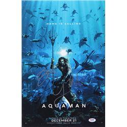 """Aquaman"" 12x18 Photo Signed by (5) with Jason Momoa, James Wan, Patrick Wilson, Yahya Abdul-Mateen"