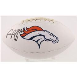 Phillip Lindsay Signed Denver Broncos Logo Football (Radtke COA)
