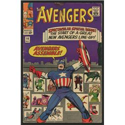 1965  The Avengers  Issue #16 Marvel Comic Book