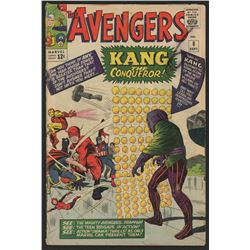 """1964 """"The Avengers"""" Issue #8 Marvel Comic Book"""