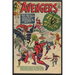 """1964 """"The Avengers"""" Issue #6 Marvel Comic Book"""