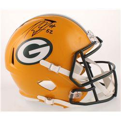 Rashan Gary Signed Green Bay Packers Full-Size Speed Helmet (Radtke COA)