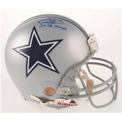 """Emmitt Smith Signed Dallas Cowboys Full-Size Authentic On-Field Helmet Inscribed """"3x SB Champs"""" (UDA"""