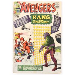 "1964 ""The Avengers"" Issue #8 Marvel Comic Book"
