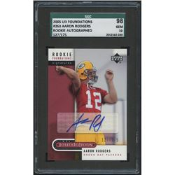 2005 Upper Deck Foundations #260 Aaron Rodgers Autograph RC #127/175 (SGC 10)
