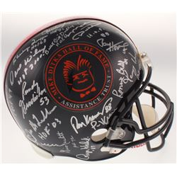 Mike Ditka Hall of Famers  Greats Logo Full-Size Helmet Signed by (40) with Mike Ditka, Paul Hornung