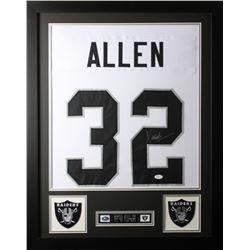 Marcus Allen 24x30 Custom Framed Jersey Display (JSA COA)