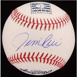 Jim Rice Signed OML Hall of Fame Baseball (JSA COA)