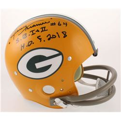 """Jerry Kramer Signed Green Bay Packers Full-Size Suspension Throwback Helmet Inscribed """"S.B. I + II"""""""
