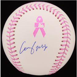 Casey Mize Signed Breast Cancer Awareness OML Baseball (JSA COA)