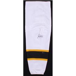 Patrice Bergeron Signed Boston Bruins Game-Worn Sock (Bergeron COA)