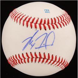 Max Fried Signed OL Baseball (JSA COA)