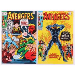 """Lot of (2) 1971 """"The Avengers"""" 1st Series Marvel Comic Books with #86  #87"""