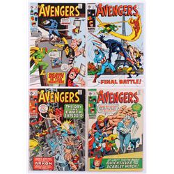"""Lot of (4) 1969-70 """"The Avengers"""" 1st Series Marvel Comic Books with #71, #74, #75  #76"""