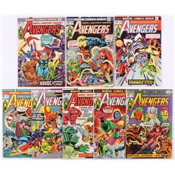 """Lot of (8) 1974-75 """"The Avengers"""" 1st Series Marvel Comic Books with #125  #132"""