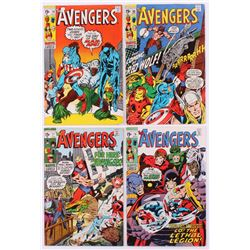"""Lot of (4) 1970 """"The Avengers"""" 1st Series Marvel Comic Books with #77, #78, #79  #80"""