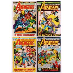 """Lot of (4) 1972 """"The Avengers"""" 1st Series Marvel Comic Books with #100, #101, #102  #103"""